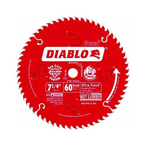 Freud Diablo D0760A 7-1/4-inch 60T ATB Ultra Finish Circular Saw Blade, 10-Pack