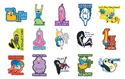 New Adventure Time Stickers - Series 3 - Complete Set of 15 Large Stickers (Includes Jake, Finn, Princess Bubblegum, Ice King, BMO, Marceline and more..) ()
