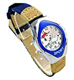 NEW Lovely Snoopy children cartoon Watches Textile Watch Band WP@GUA147494L
