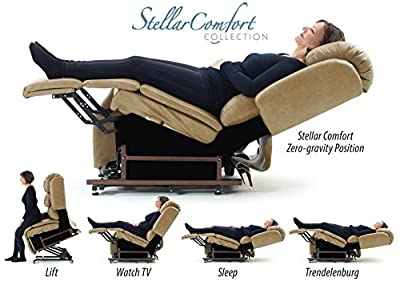 StellarComfort UC550-L Tall Zero Gravity Lift Chair Recliner with Deluxe Heat and Massage (curbside delivery)