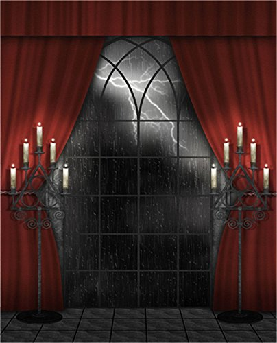 Photography Backdrop Indoor 10x10 Halloween Background Red Curtain