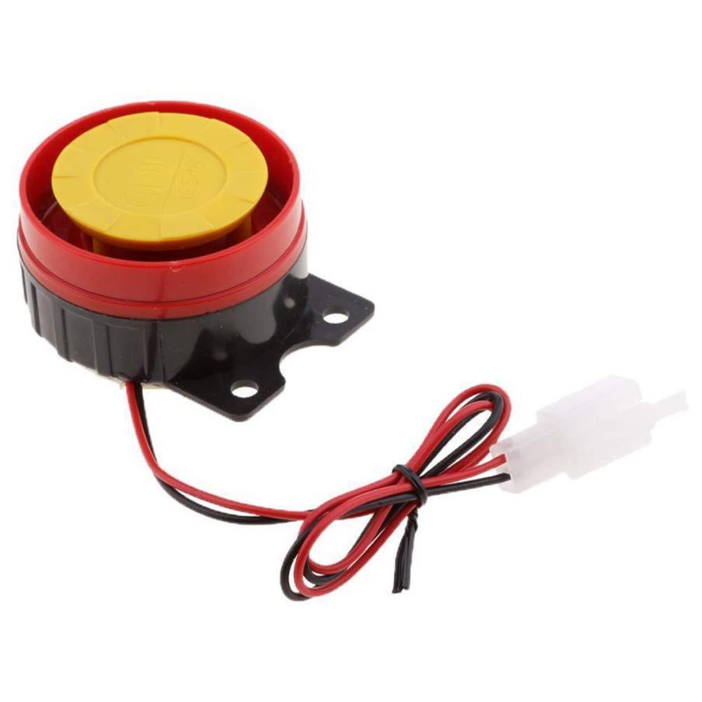 TOOGOO 1pc 12V Universal Car Truck Horn Simple Design Motorcycle Electric Driven Air Raid Siren Alarm Safety Horn