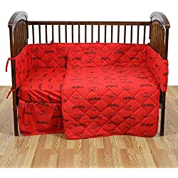 College Covers NCAA Arkansas Razorbacks 5 Piece Baby Crib Set