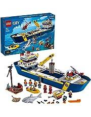LEGO 60266 City Drijvende Onderzoeksschip, Diepzee Onderwater Bouwset, Speelgoed Boot voor Kinderen 7 Jaar en Ouder
