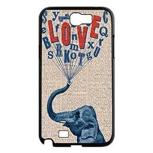 Elephant on Dictionary ZLB522172 DIY Phone Case for Samsung Galaxy Note 2 N7100, Samsung Galaxy Note 2 N7100 Case