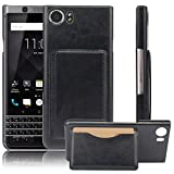 Best Holders For Blackberries - Blackberry Keyone Case, Premium PU Leather Wallet Protective Review