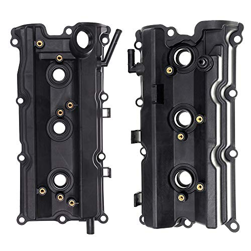 2005 Infiniti M35 - ECCPP Valve Cover with Valve Cover Gasket for 2003-2008 Infiniti FX35 G35 M35 Nissan 350Z Compatible fit for Left/Right Engine Valve Covers Kit