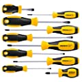 Magnetic Screwdriver Set 10 Pcs Cremax Professional Cushion Grip 5 Phillips And 5 Flat Head Tips Screwdriver Non Slip For Repair Home Improvement Craft