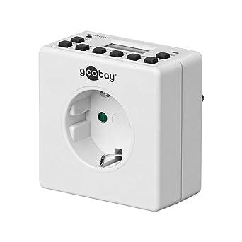 Goobay Digitale Zeitschaltuhr pr/äzise und komfortable Steuerung von elektronischen Ger/äten