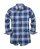 Backpacker Ladies' Plaid Flannel Shirt, Blue/Green, Medium