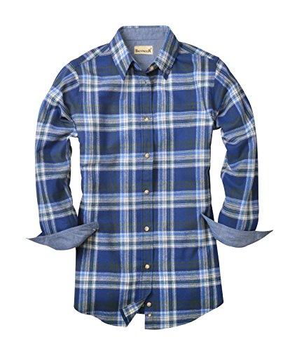 Womens Plaid Flannel (Backpacker Ladies' Plaid Flannel Shirt, Blue/Green, Medium)