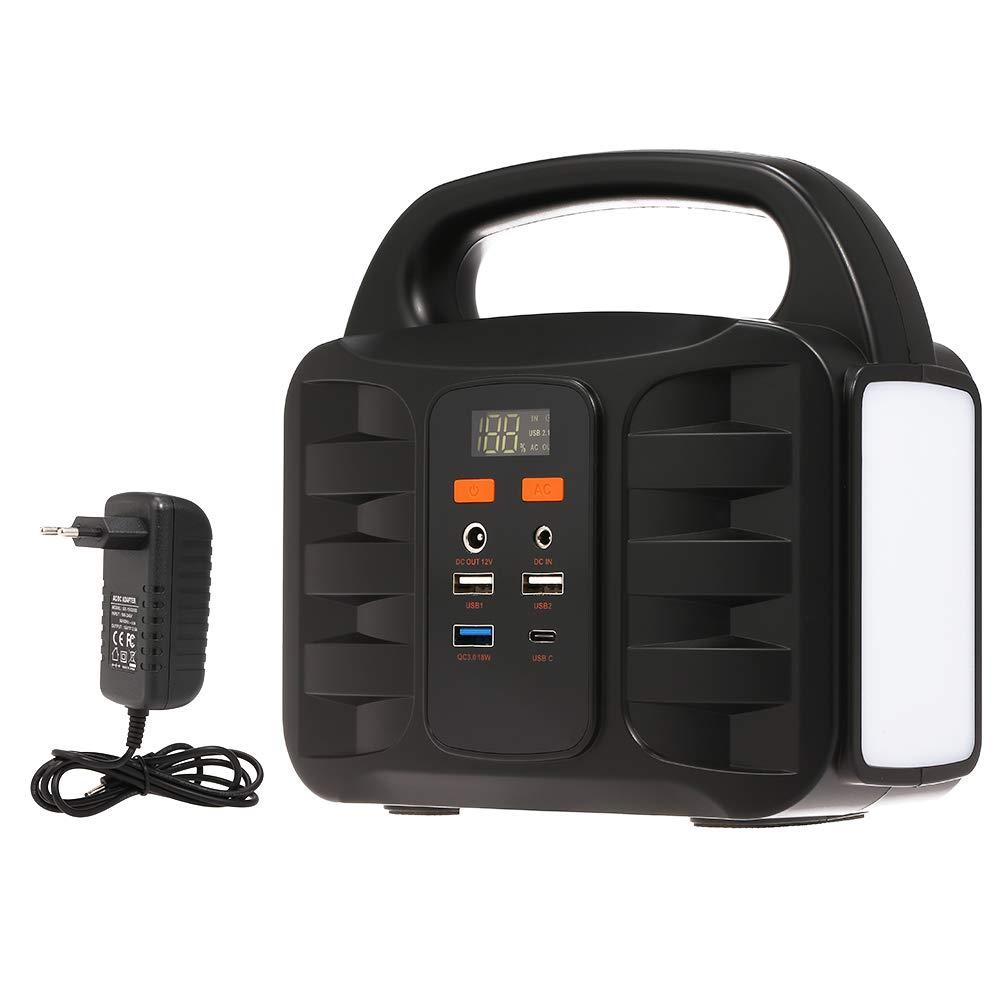 100V-220V Decdeal Generatore Portatile di Alimentazione 155Wh Batteria al Litio di Backup di Emergenza,Caricato da Pannello Solare//Presa a Muro//Auto con USB
