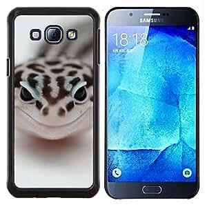 Caucho caso de Shell duro de la cubierta de accesorios de protección BY RAYDREAMMM - Samsung Galaxy A8 A8000 - Feliz Serpiente