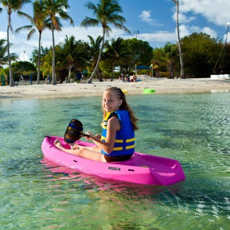 Lifetime-6-1-Man-Wave-Youth-Kayak-with-Bonus-Paddle-Pink-Color-Designed-for-kids-ages-5-and-up-or-up-to-130-lbs-Durable-High-Density-Polyethylene-construction