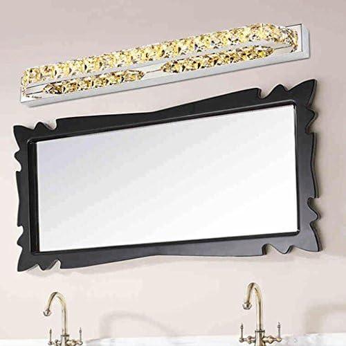 &LED Spiegelfrontlampe Crystal LED Edelstahl Spiegel Scheinwerfer Schlafzimmer Toiletten Badezimmer Spiegel Lampe Lampe vor dem Spiegel (Color : White)