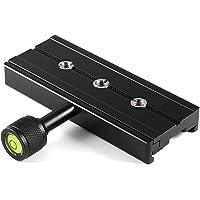 """Czarne materiały całkowicie metalowe QR-120 adapter zaciskowy do szybkozłączki 1/4"""" 3/8"""" do Arca SWISS RSS płyta…"""
