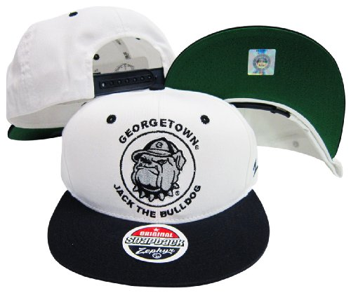 Georgetown Hoyas Jack The Bulldog Mascot Plastic Snapback Adjustable Plastic Snap Back Hat/Cap