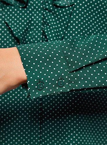 Tissu Vert oodji Femme Fluide Chemisier Collection 6e12d Volants en qIq4Z