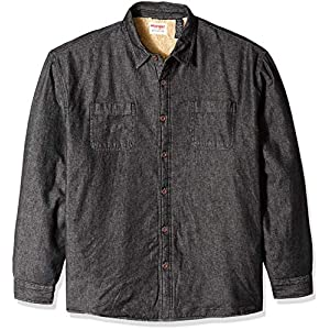 Wrangler Authentics Men's Long Sleeve Sherpa Lined Denim Shirt Jacket