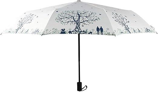 TtKj Folding Umbrella Small Fresh Girl Manual Black Plastic Umbrella 6097cm