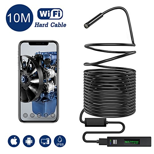 Snake Camera WiFi,Gruper Wireless Endoscope Inspection Camera 2.0 Megapixels HD WiFi Borescope Camera Android...