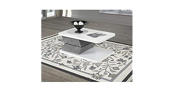 Amazing Amazon Com Brassex Coffee Table With Rotating Top In White Cjindustries Chair Design For Home Cjindustriesco