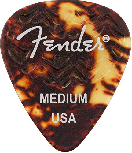 (Fender 351 Shape, Tortoise Shell Medium Guitar Pick (6))
