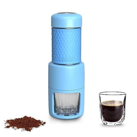 STARESSO Máquina de café manual portátil con cápsulas de café espresso Cappuccino Quick Cold Brew Todo