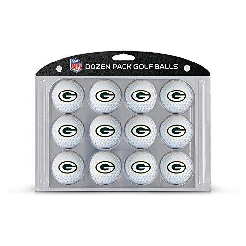 Team Golf NFL Green Bay Packers Dozen Regulation Size Golf Balls, 12 Pack, Full Color Durable Team Imprint