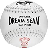 Rawlings Sporting Goods Official ASA NFHS Dream Seam Fastpitch Softball (White), 12 Count, C12WLAH
