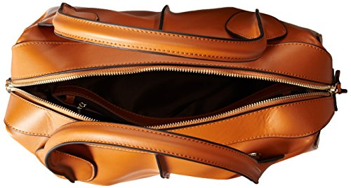 Fineplus Women's Vintage Classic Smile Leather Shoulder Hand Bag