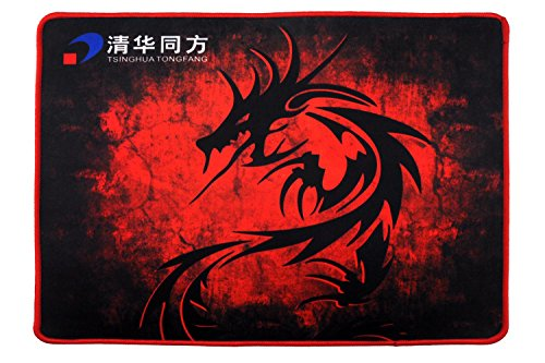 "51pHBJSwWmL - Big / Red / Large Gaming Mouse Pad, THTF Gaming Mousepad -- Non-Slip XL Soft Gaming Desk Mat (13.7 ""x 11.1 ""x 0.12 "")"