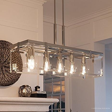 Amazon.com: Lujo moderno Farmhouse lámpara de araña, tamaño ...