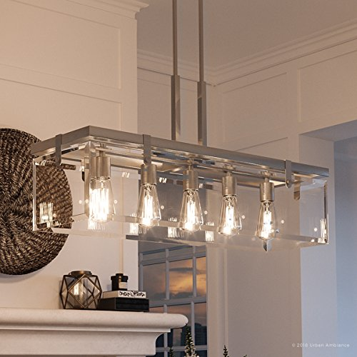 Luxury Modern Farmhouse Chandelier, Large Size: 15.75