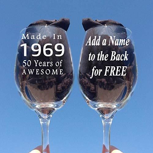 Copa de vino para regalo de 50 cumpleaños para mujer, regalo ...