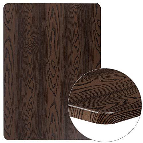 Flash Furniture XU-3042-WD-GG Rustic Wood Grain Laminate Restaurant Table Tops ()
