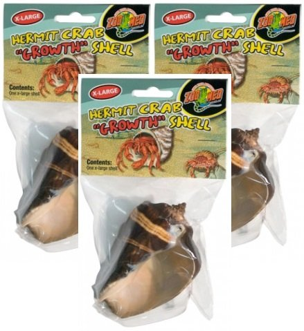 Zoo Med Hermit Crab Growth Shell, X-Large (Pack of 3) by Zoo Med