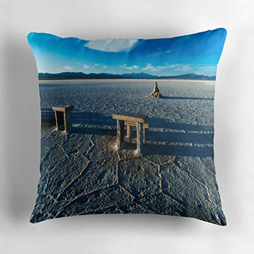 Uwwrticm Salinas Grandes Tables amp Chairs Decorative Square Throw Pillow Case Cotton Personalized Cushion Cover New Home Office Decoration 18 X 18 Inches]()