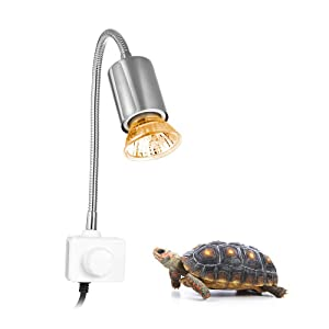Decdeal 25W 360 ° Heating Lamp, Heating Lamps and Lamp Holder for Reptiles Aquarium Turtle, Lizard, Snake