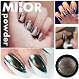Stylazo Born Pretty 10g Silver Nail Mirror Metallic Effect Chrome Powder Dust Pigments Nail Art Decoration