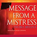 Message from a Mistress Audiobook by Niobia Bryant Narrated by Soozi Cheyenne