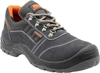 Zapatos de Seguridad para Hombres, S1P, Zapatos con Punta de Acero, Zapatos de Trabajo Antideslizantes, Antideslizantes, Zapatos de Seguridad para la Cocina, Botas de Trabajo