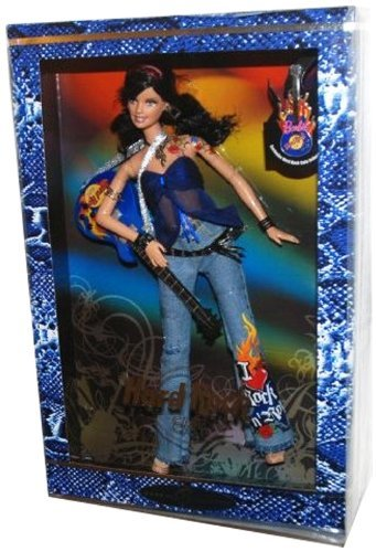 2005 Barbie Collector Silver Label, Hard Rock Barbie Doll with Guitar and Exclusive HRC Collector Pin! (1 Each) Retired, #3 in the Hard Rock Cafe Barbie Doll Collection.