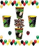 Kung Fu Panda Plastic Reusable Cups and Balloons Bundle