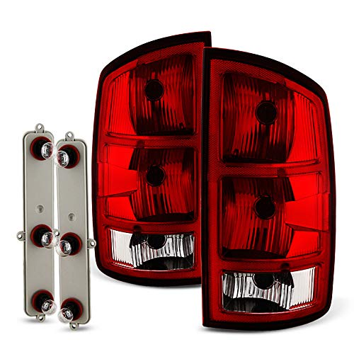 ACANII - For 2002-2006 Dodge Ram 1500 2500 3500 Pickup Tail Lights Brake Lamps+Circuit Board OE Factory Style Left+Right