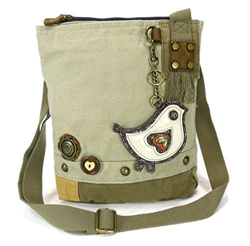 Chala Patch Cross-Body Women Handbag, Canvas Messenger Bag  (White Chichik Bird - Womens Antique Handbag