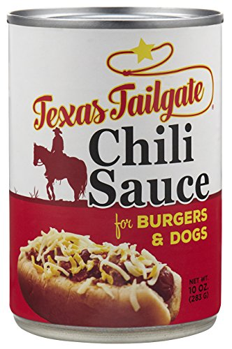 Hot Dog Chili Sauce - Texas Tailgate Chili Sauce for Burgers and Dogs, 10 Oz