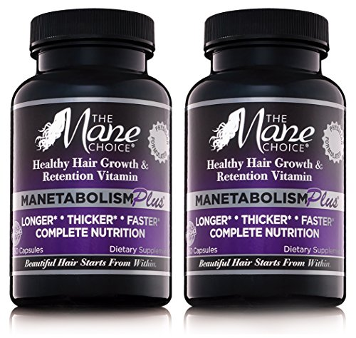 The Mane Choice MANETABOLISM Plus Healthy Hair Growth Vitamins (60 Capsules - Pack of Two) - Complete Nutrition Supplements for Longer, Thicker and Healthier Hair