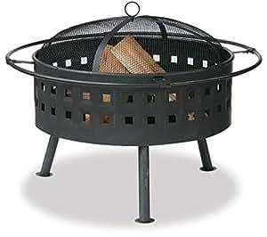 Endless Summer, WAD997SP, Aged Bronze Outdoor Firebowl with Lattice Design