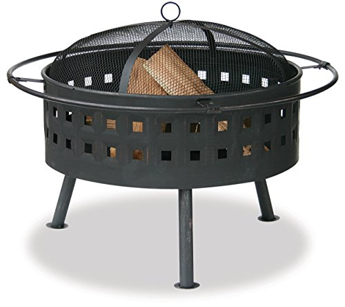 Uniflame Outdoor Firebowl (Endless Summer, WAD997SP, Aged Bronze Outdoor Firebowl with Lattice Design)